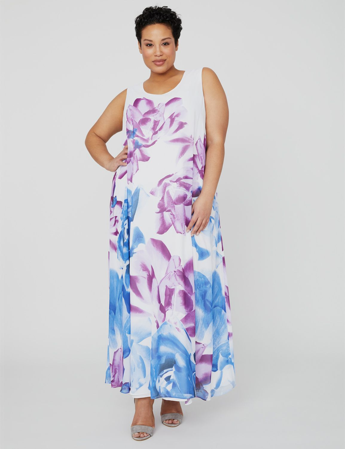 Black Label Rosebloom Maxi Dress 1088697 Printed Woven Sleeveless Ma MP-300100173