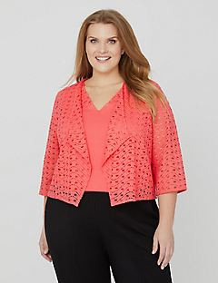 AnyWear Banquet Cropped Cardigan