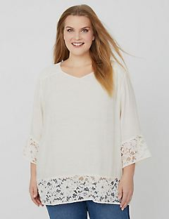 Lace Dream Peasant Top