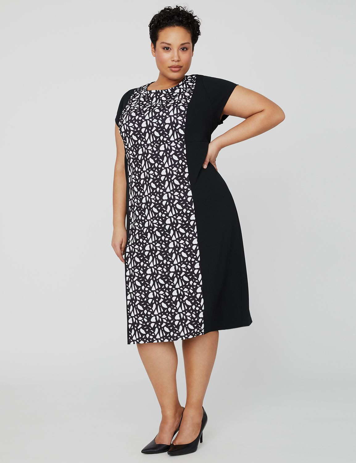 Mirage Crepe Dress 1091427 Printed Knit Crepe Dress MP-300100793