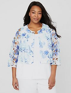 Black Label Cutout Blossom Jacket