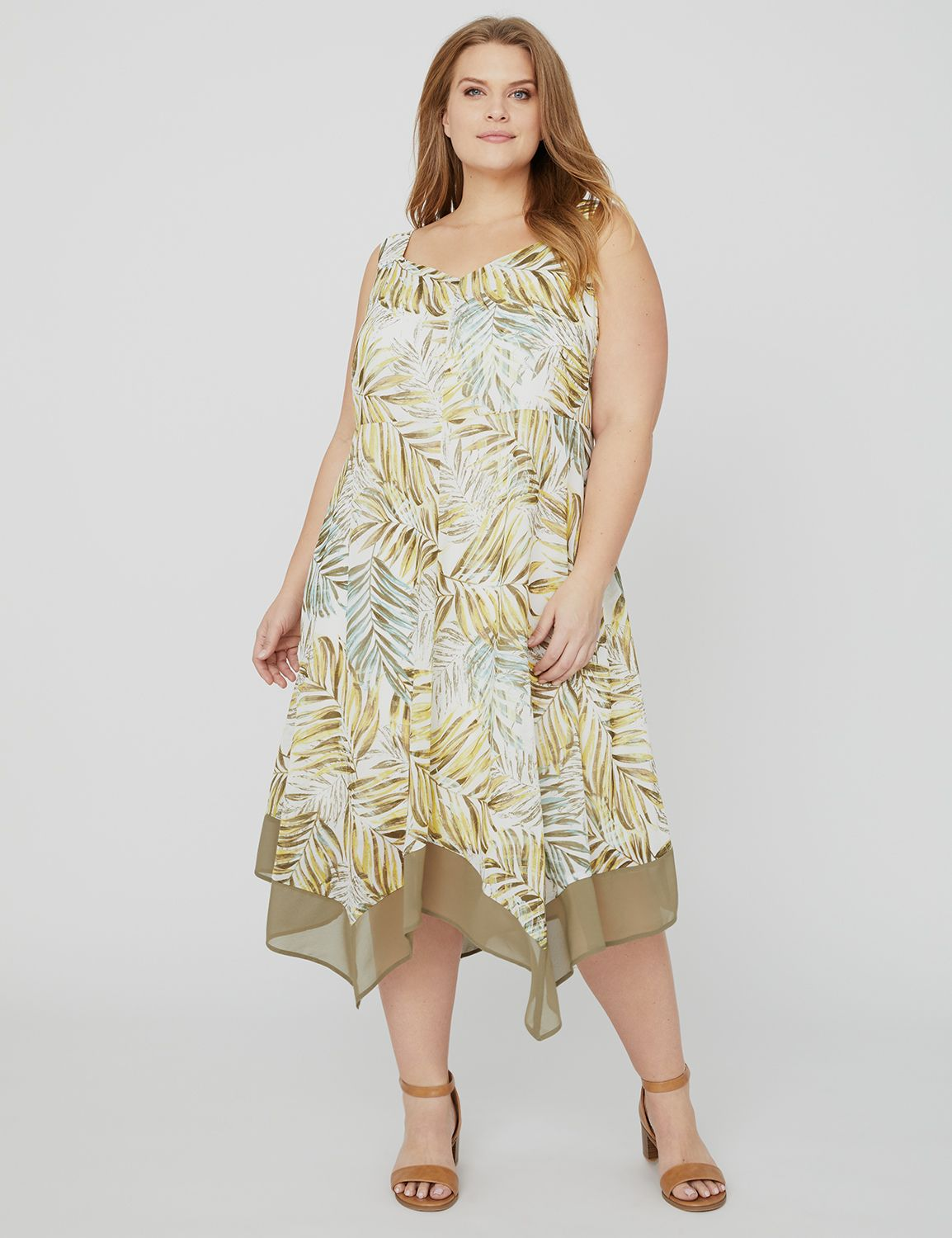 Greenwood Imprint Dress with Hankerchief Hem 1089938 Printed HANKY HEM DRESS wit MP-300102379