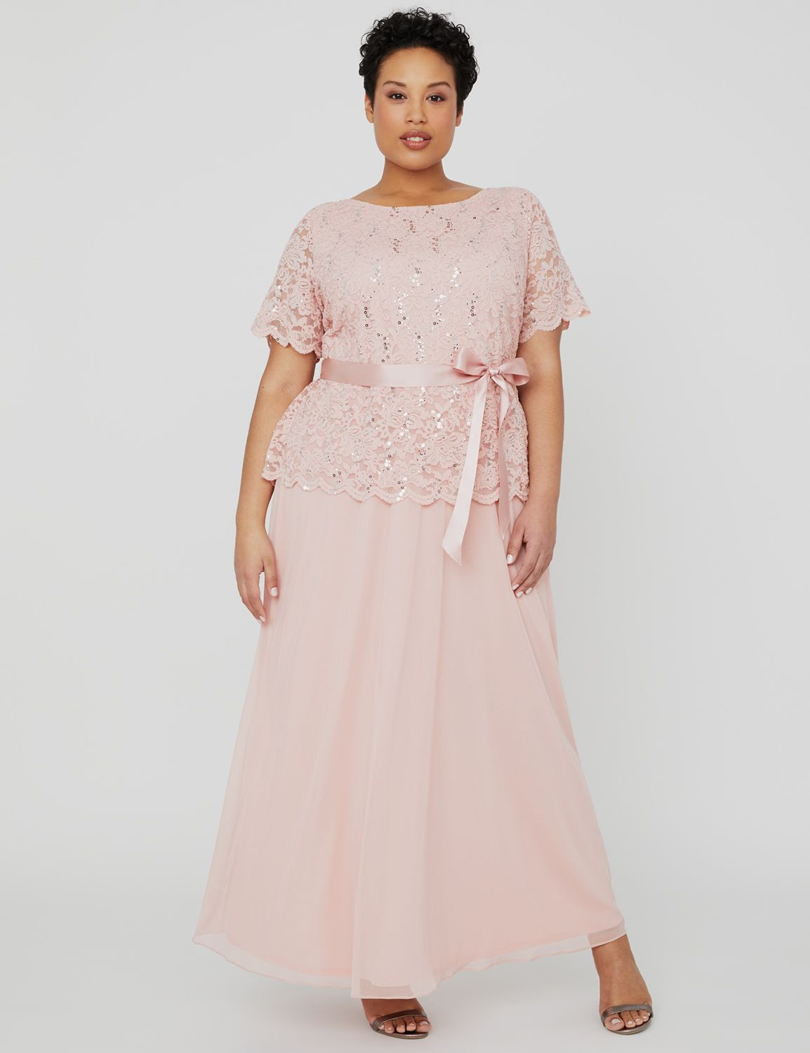 Blush Sunset Dress 1090995 Long Dress with Lace Bodice MP-300101529