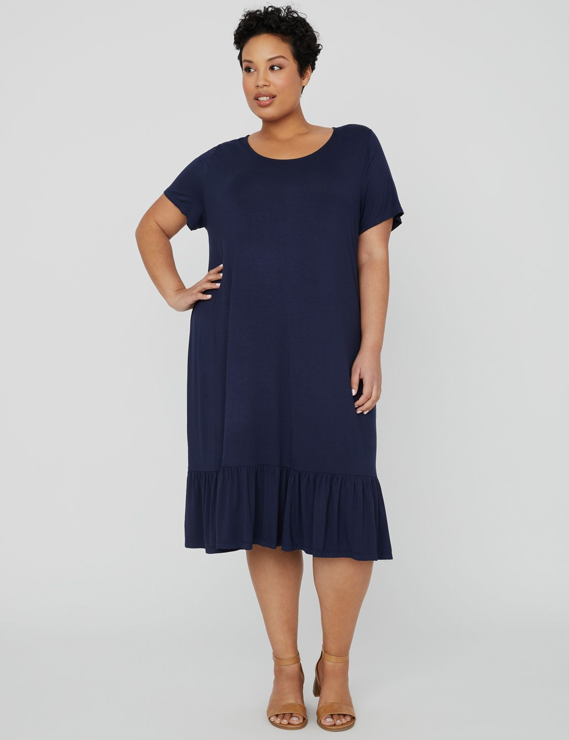 Exhale T-Shirt A-Line Dress 1090955 T-shirt Dress with Flounce MP-300102394