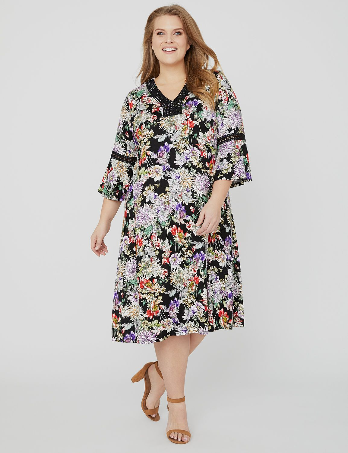 Floral Meadow Dress 1092650 Spense Floral Print Dress w MP-300102343