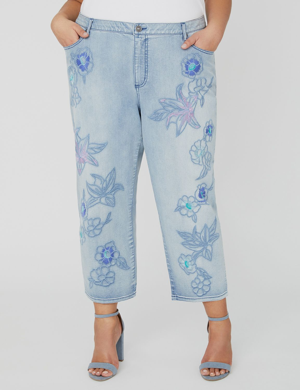 Floral Stitch Capri 1088259 EMBROIDERED CAPRI - 21