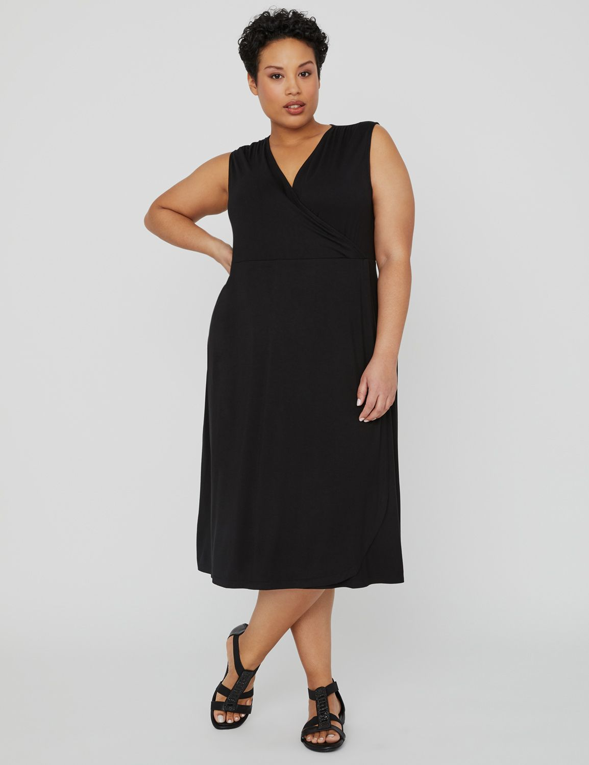 Riverview Wrap Dress 1088151 Vneck Front and Back Maxi E MP-300102368