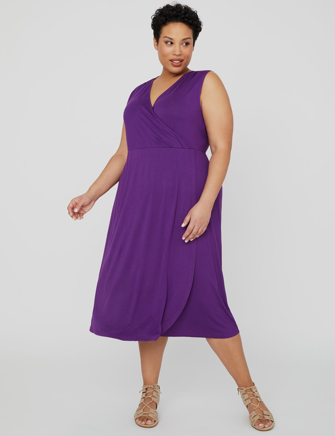 Riverview Wrap Dress 1088151 Vneck Front and Back Maxi E MP-300102363