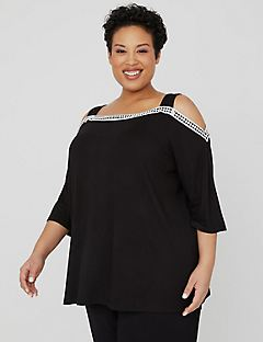 AnyWear Reverie Cold-Shoulder Top