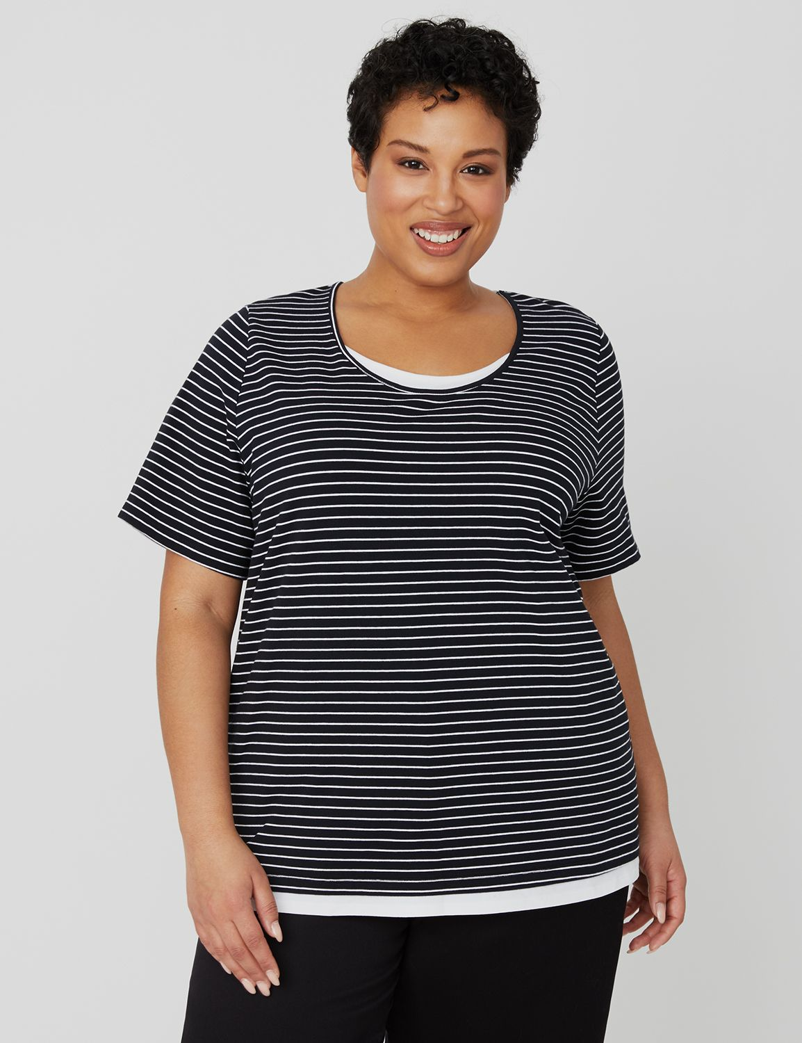 Suprema Duet Stripe Tee 1092768 SUPREMA SS- STRIPE 2FOR MP-300104393