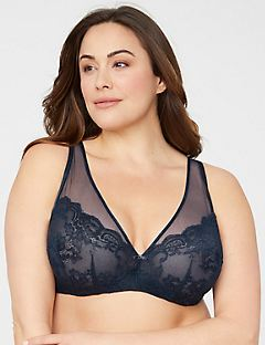 Illusion Lace Underwire Bra