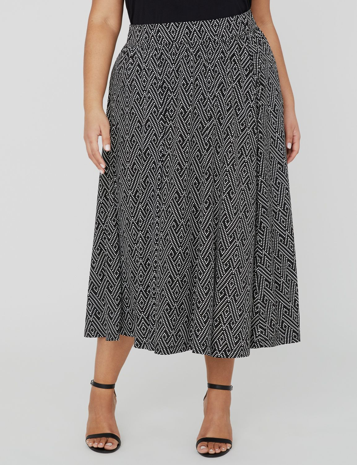 AnyWear Daydream Midi Skirt 1088564 Anywear ITY Printed Midi Sk MP-300104834
