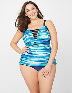Watercolor Tummy Control Swim Tank