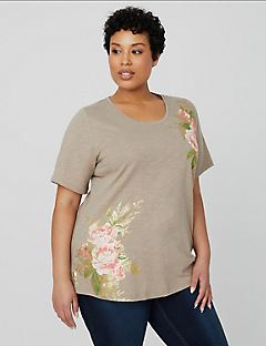 Tranquil Floral Tee