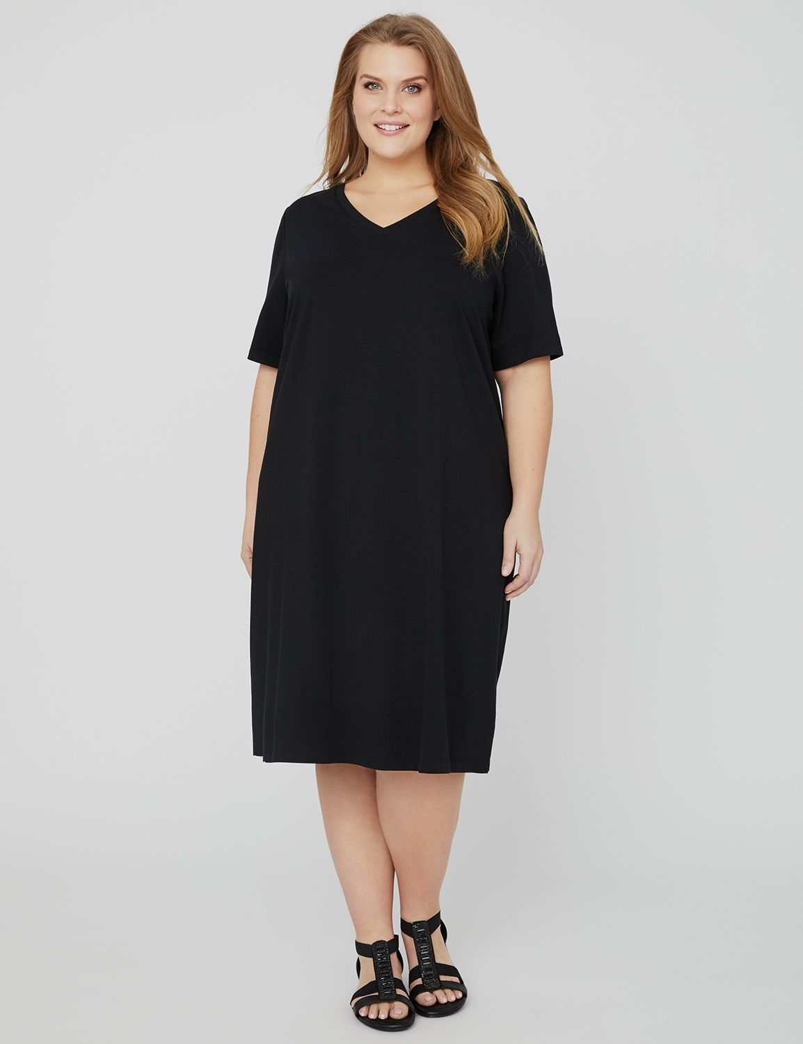 Suprema V-Neck Dress 1090900 Suprema V'Neck Dress MP-300104258