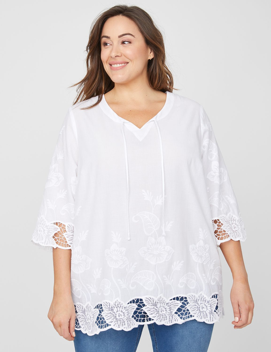 Springs Resort Peasant Top 1091212 Nuance Embroidered Peasant MP-300105869