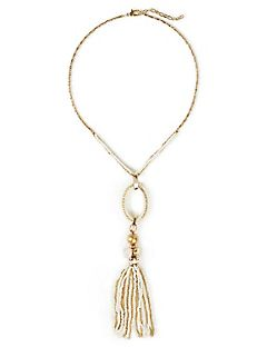 Ivory Gull Tassel Necklace