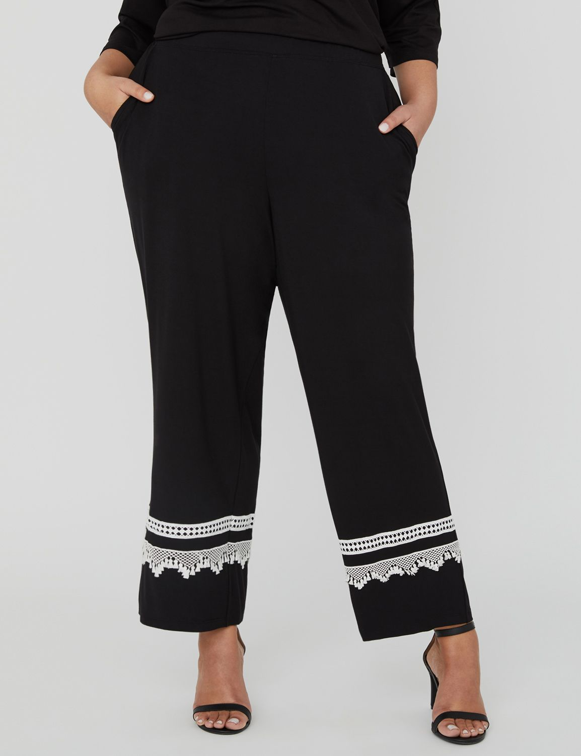 AnyWear Reverie Straight-Leg Crop Pant 1090084 Anywear Rayon Span Straight MP-300105236