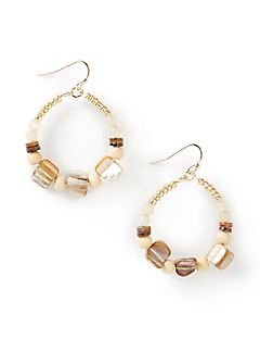 Golden Sands Beaded Earrings