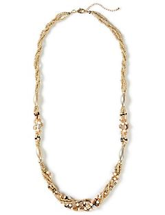 Golden Sands Beaded Necklace