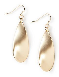 Simply Smooth Teardrop Earrings