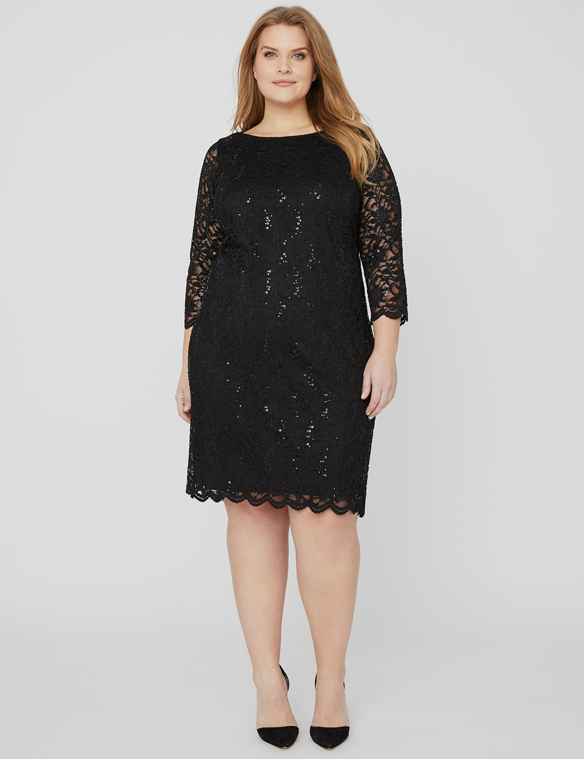 Sequin Lace Shift Dress 1093614 Lace Shift - #88922 MP-300107346