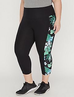 Legging Capri with Floral Panel