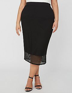 Curvy Collection Soft Mesh Skirt