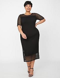 Curvy Collection Soft Mesh Dress