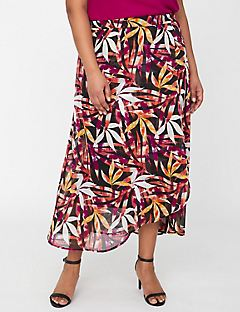 Bright Flora Wrap Skirt
