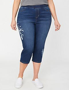 The Floral Knit Jean Capri