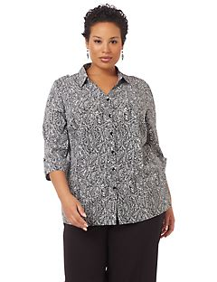 Allover Print Buttonfront