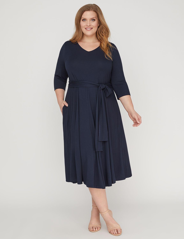 1950s Plus Size Dresses, Clothing | Plus Size Swing Dresses Lovely Fit  Flare Dress $79.00 AT vintagedancer.com