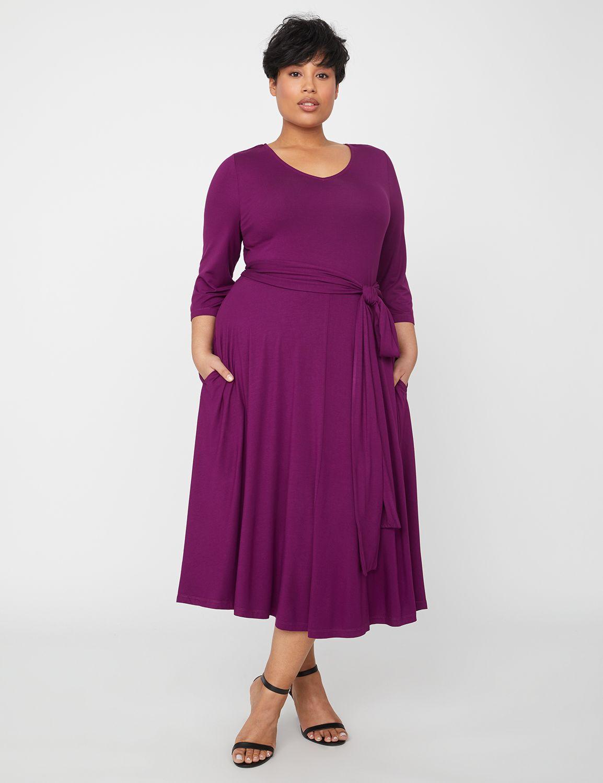 Plus Size Swing Dresses, Vintage Dresses Lovely Fit  Flare Dress $79.00 AT vintagedancer.com