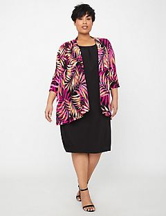 Passion Flower Jacket Dress