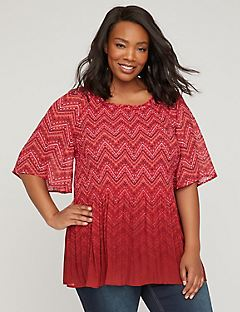 Claret Pleated Top