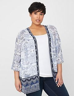 Paisley Georgette Cascade
