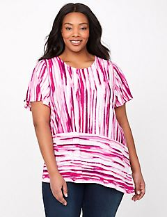 Rouge Striped Top