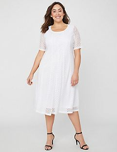 Pure White A-Line Dress