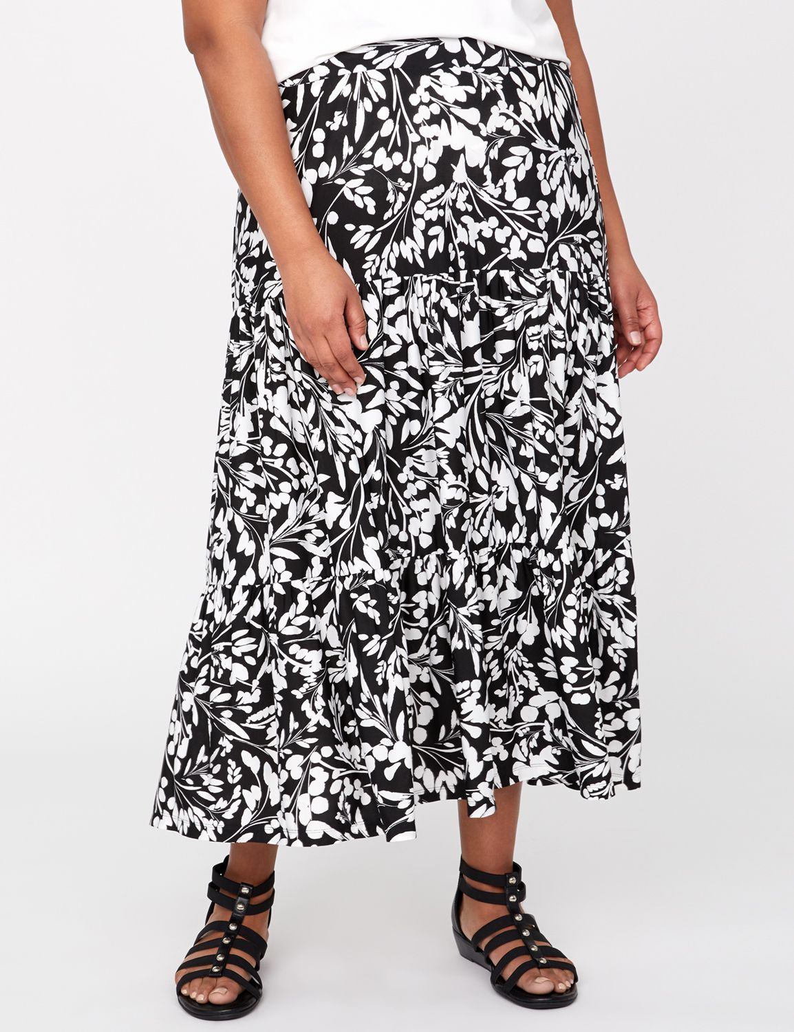 Tiered Maxi Skirt @...