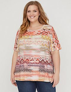 Pattern Play Pleat-Back Top