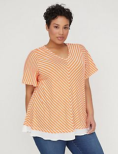Ruffled Chevron Top