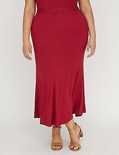 Curvy Collection Crimson Gore Maxi Skirt