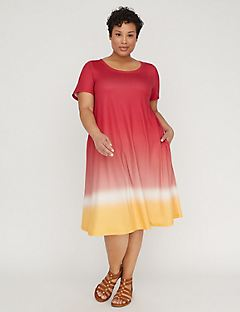 Soft Ombre T-Shirt Dress