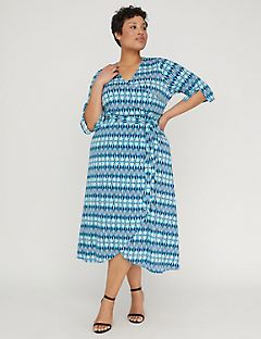 Blue Lagoon Fit & Flare Dress