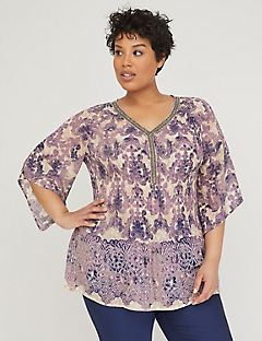 Lavender Beauty Pleated Top