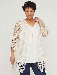 Embroidered Lace Floral Cascade