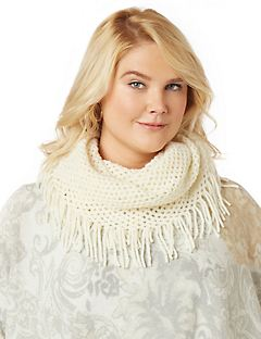 Metallic Touch Infinity Scarf