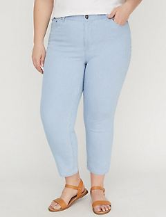 Striped Twill Capri