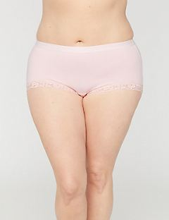 Cotton Boyshort Panty With Lace